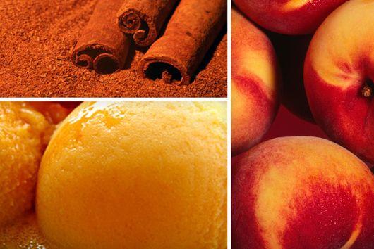 Cinnamon Peach Sorbet
