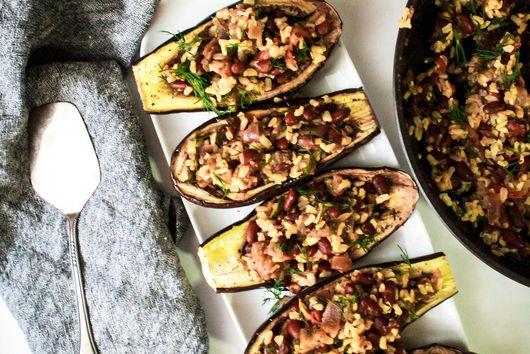 Eggplant Pide (or Eggplant Boats)