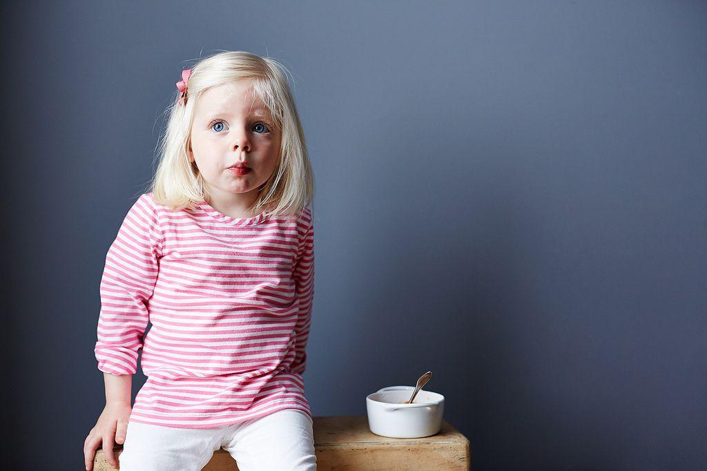 Little Girl Eating Pasta Shells