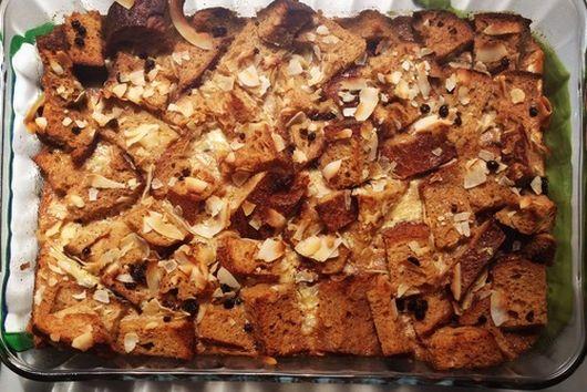 Coconut Currant Sourdough Bread Pudding