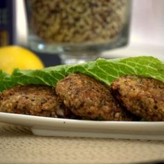Refried Beans & Quinoa Burger Patties
