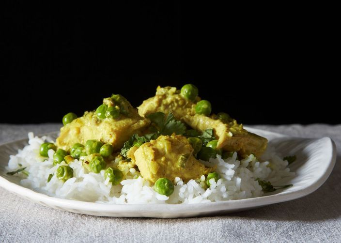 Sweet Pea and Salmon Curry