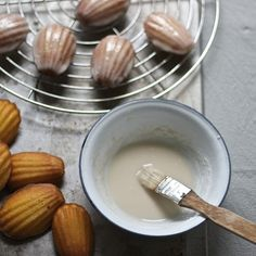 Masa Harina Madeleines with a Whiskey Glaze