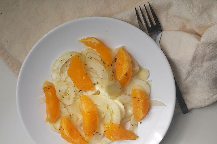 Orange Fennel Salad with White Balsamic Vinaigrette