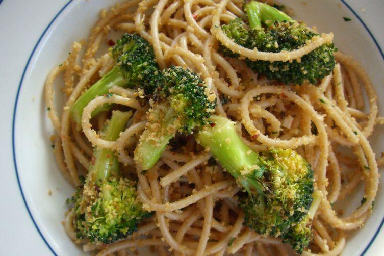 Broccoli Aglio e Olio with Gremolata Breadcrumbs