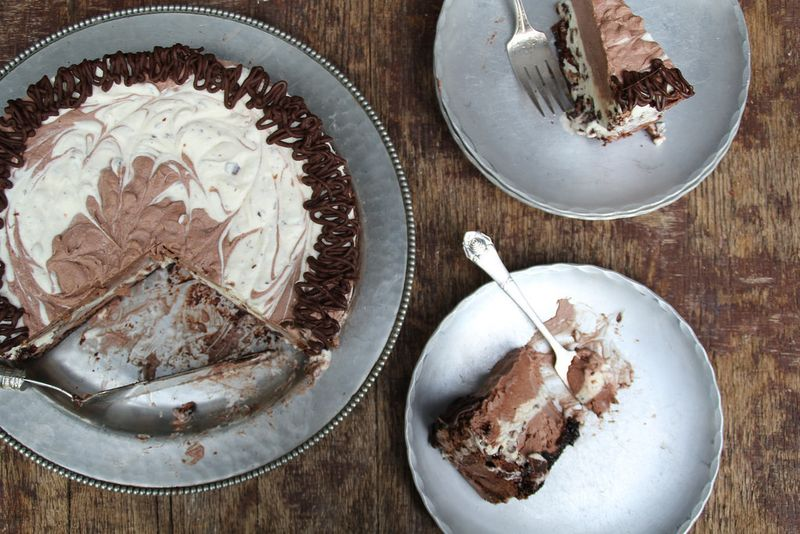 The Easiest Chocolate Meringue Ice Cream Cake