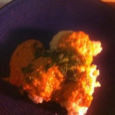 Ricotta Malfatti with Roasted Pepper, Pistachio, and Yogurt Sauce