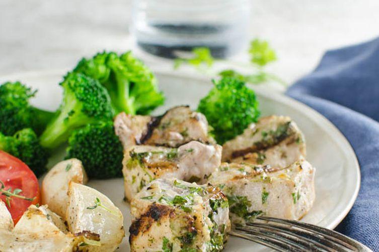 Cilantro Lime Swordfish Kebabs