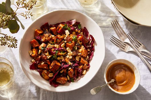 Spiced Peanut Sweet Potato Salad, from Deliciously Ella