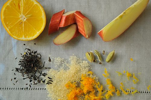 Rhubarb with Earl Grey Tea, Cardamom, and Orange Zest
