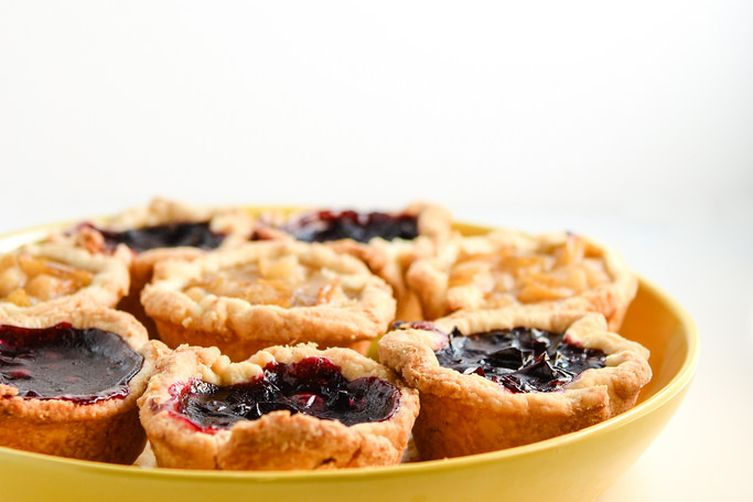 Concord Grape + Pear Cardamom Mini Pies