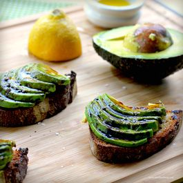 Avocado Bruschetta with Balsamic Syrup