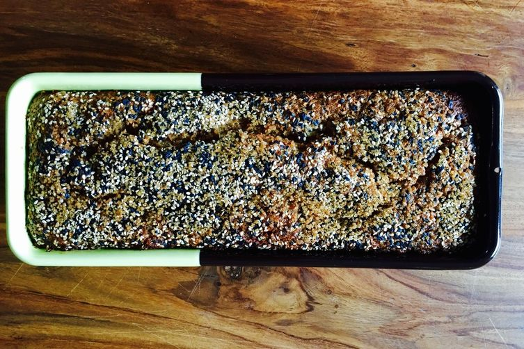 Black Sesame Buckwheat Banana Bread