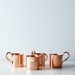 Copper Moscow Mule Mugs (Set of 4)