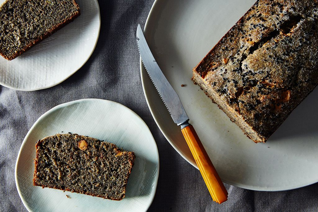 How To Make Black Sesame Cake With Peanut Butter And Banana