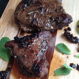 Balsamic Pepper Rumb Steak