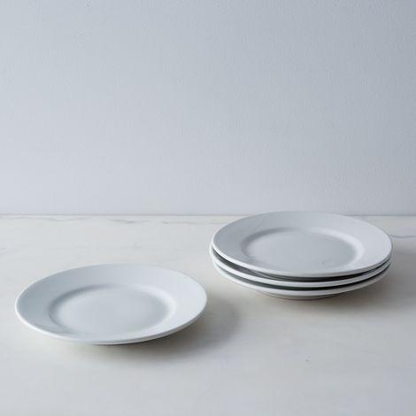Vintage French Porcelain Salad Plates (Set of 4)