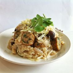 Mushroom Miso Risotto