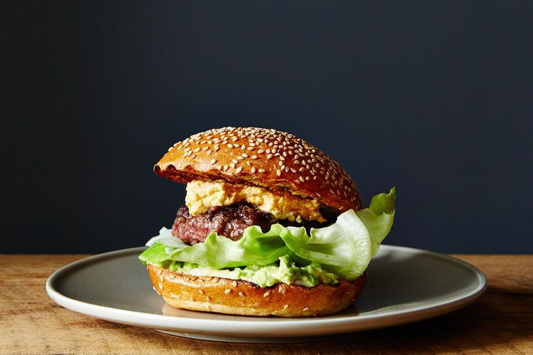 Bacon-Stuffed Burger with Pimento Cheese and Avocado