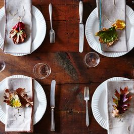 These Autumnal Place Settings are Simpler (& More Cheerful!) Than a Centerpiece