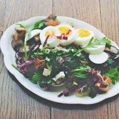 Mushroom, Ramp, and Mozzarella Salad
