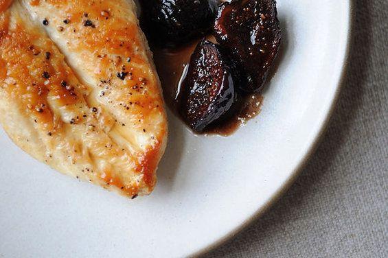Chicken with Figs, Wine & Honey