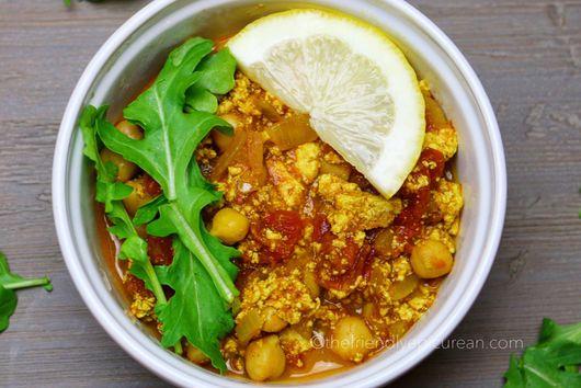 Chana Masala Pockets with Tofu and Arugula