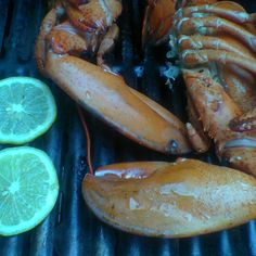 Warm Grilled Lobster Salad with lemon thyme butter