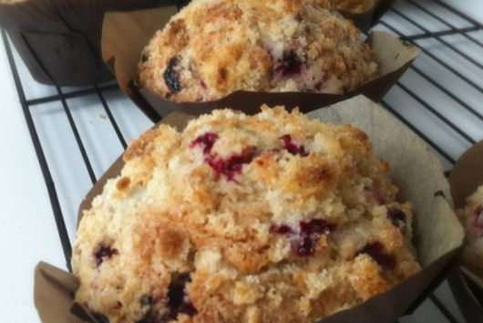Partridgeberry (Lingonberry) Crumble Muffins