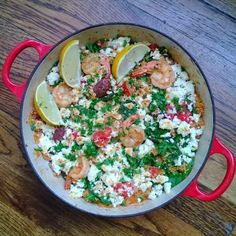 20 Minute One-Pan Mediterranean Shrimp and Couscous