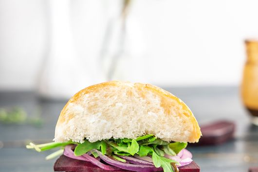 Roasted Beet and Honey Goat Cheese Sandwich