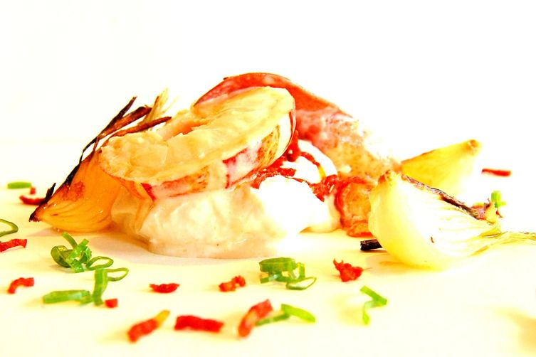 Lobster with Basil Infusion Cream Sauce