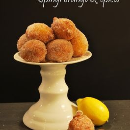 Spingi (Donuts) with ricotta, orange and spices