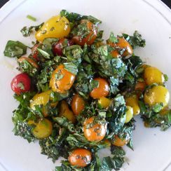 My Herb Garden Salad with Golden Cherry Tomatoes