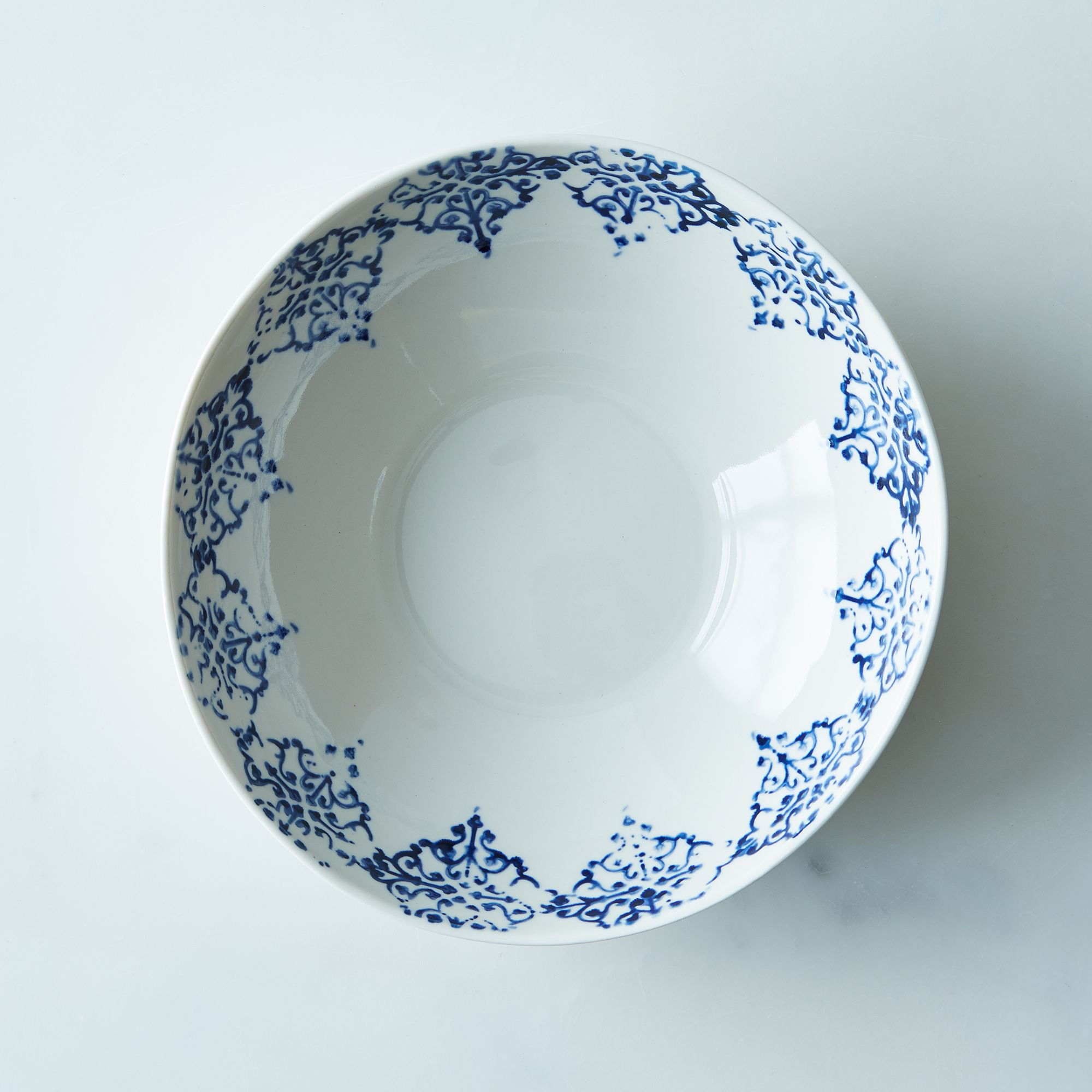 Salad Bowl (set Of 2) Blue Print