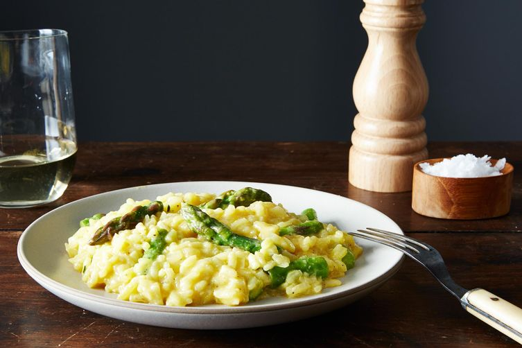 Vegan Lemon Asparagus Risotto