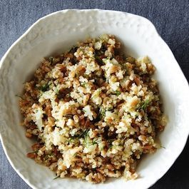 Quinoa and Farro Salad with Pickled Fennel