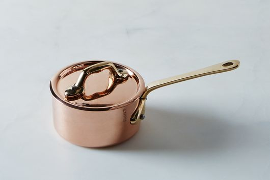 Mauviel M'héritage Copper Mini Saucepan with Lid, 0.4QT