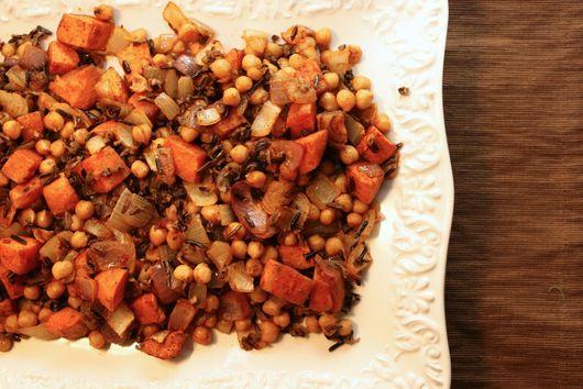 Smoked Paprika Wild Rice, Sweet Potatoes and Chickpeas