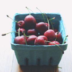 Cherry, Basil, and Almond Crisp
