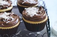 Lamington Cupcakes with Chocolate Ganache Icing