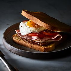 Dutch Ham, Gouda, and Egg Sandwich (Uitsmijter)