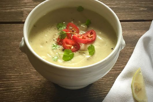 Cauliflower Soup with Coconut Milk & Chillies