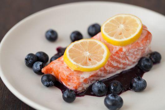 Blueberry Salmon Fillets