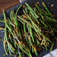 Green Beans with Tangy Sesame Sauce