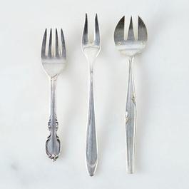 Vintage Silver-Plated Relish Fork
