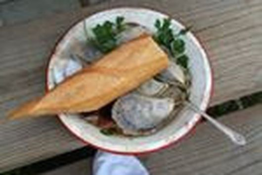 Grilled Oysters with Black Truffle Butter