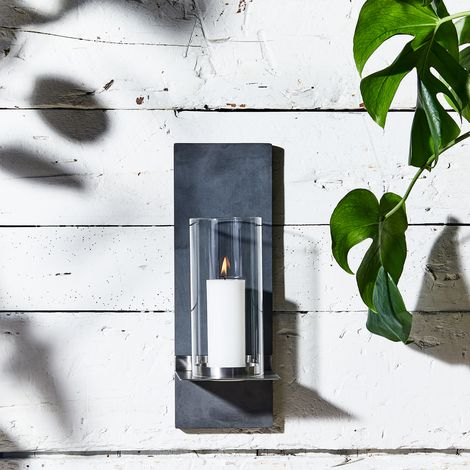 Wall-Mounted Outdoor Candle Holder