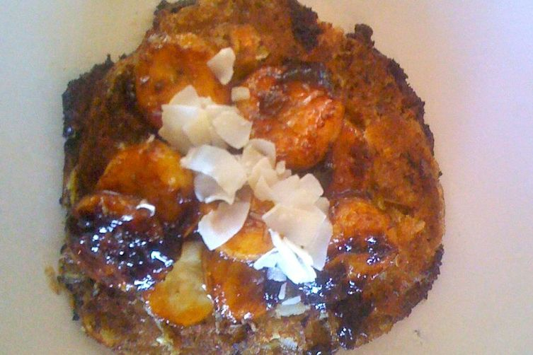 COCONUT PANCAKE MEETS BANANAS FOSTER