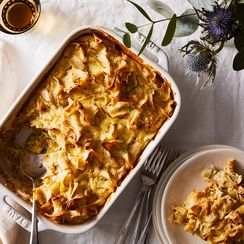 Noodle Kugel With Caramelized Onions and Brown Butter